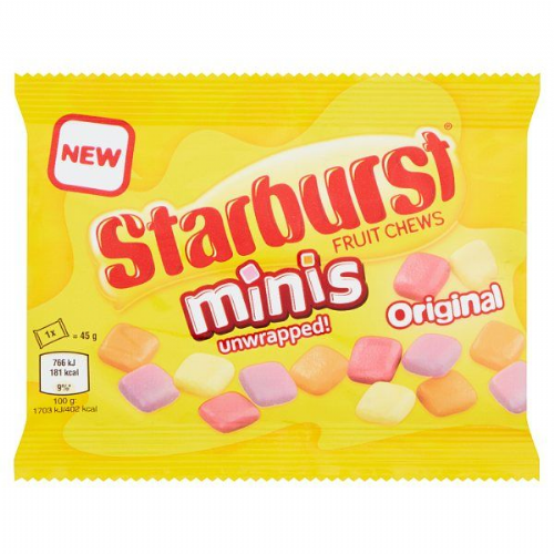Starburst Fruit Chews Minis Original 45g